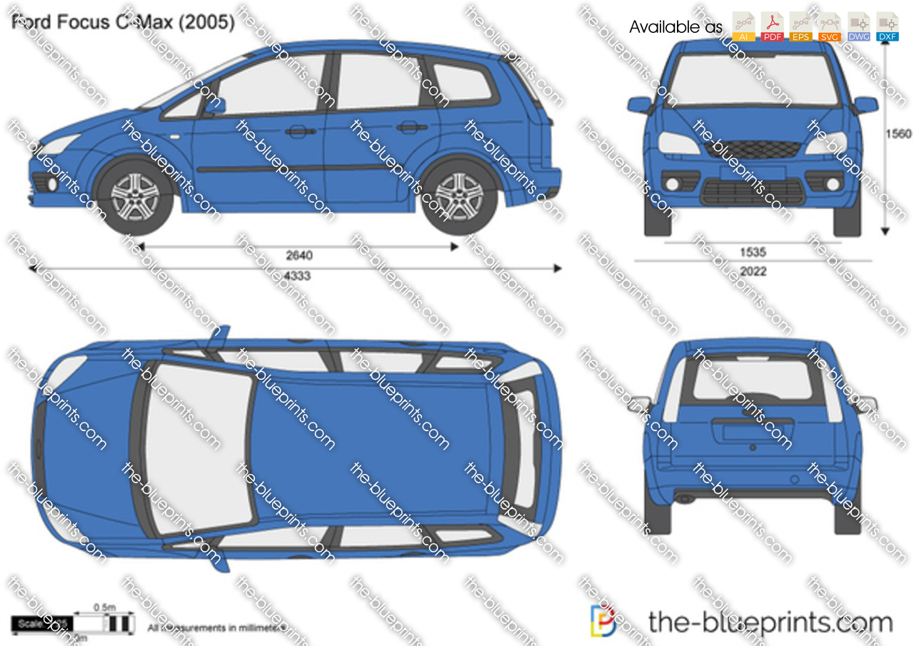 ford focus  max vector drawing