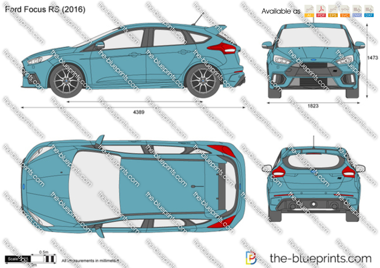 Vector Drawings / Ford / Ford Focus RS