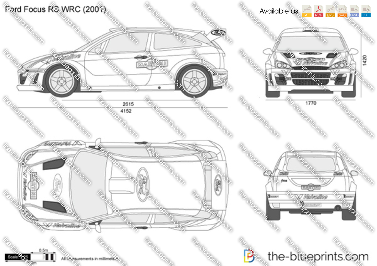 Ford focus rs wrc vector drawing ford focus rs wrc malvernweather Choice Image