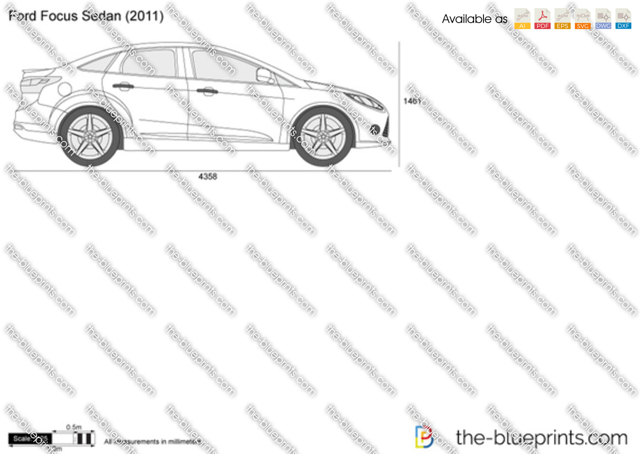 The Blueprints Com Vector Drawing Ford Focus Sedan