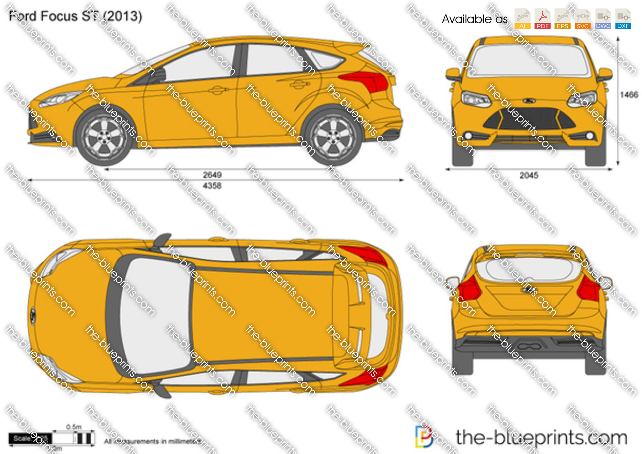 Ford Focus St Vector Drawing