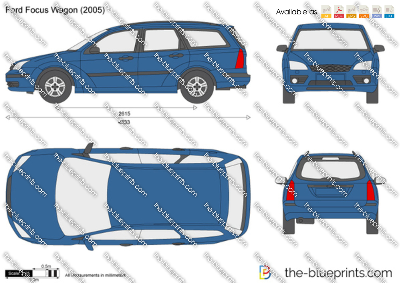 ford focus wagon vector drawing. Black Bedroom Furniture Sets. Home Design Ideas