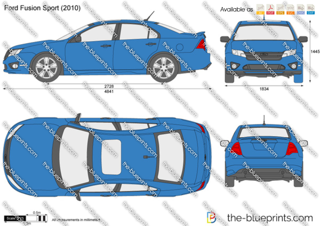 2010 Ford Fusion For Sale >> The-Blueprints.com - Vector Drawing - Ford Fusion Sport