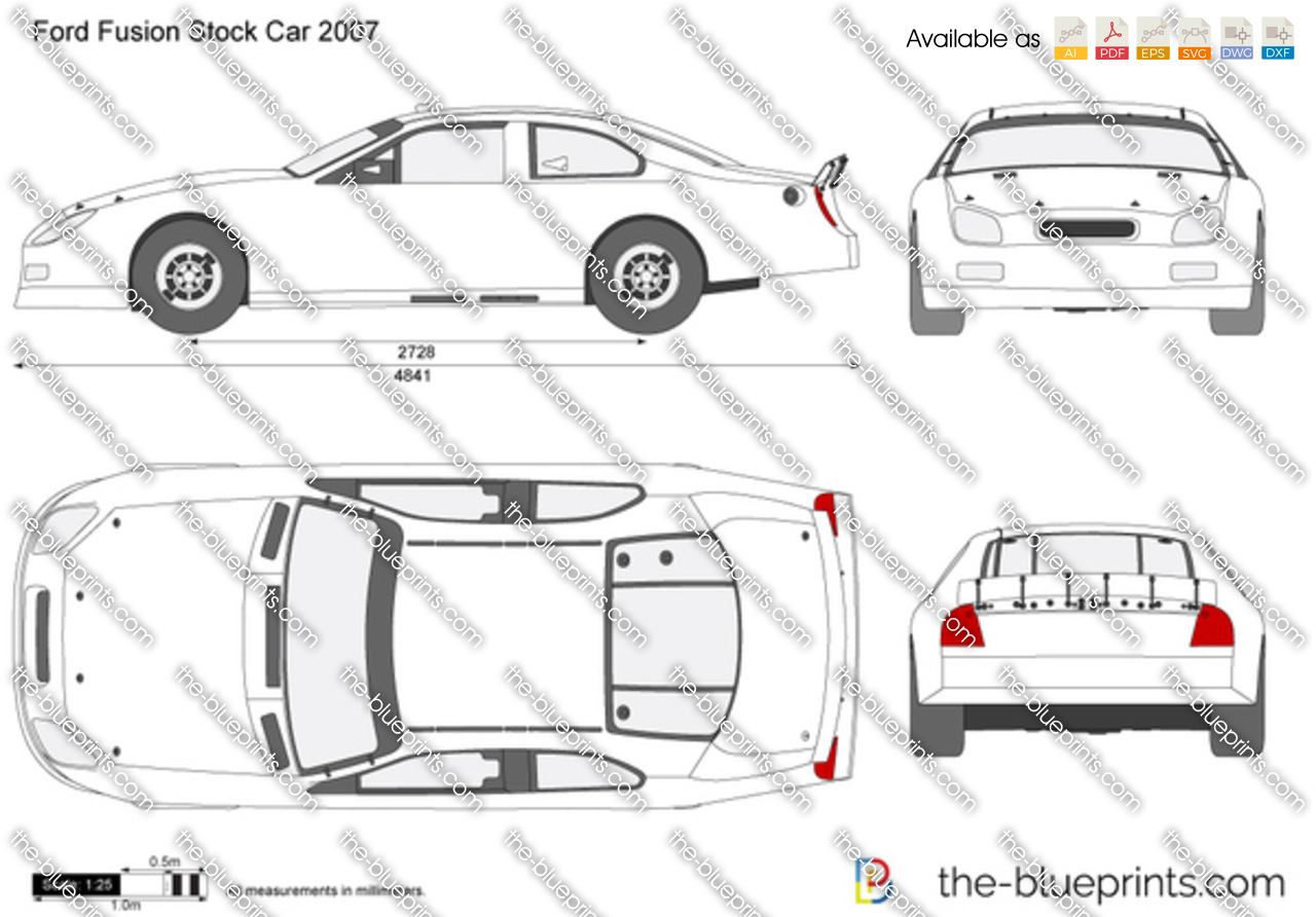 The Blueprints Com Vector Drawing Ford Fusion Stockcar