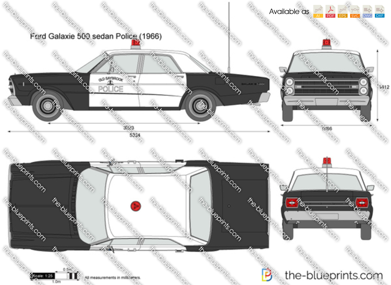 Ford Galaxie 500 sedan Police