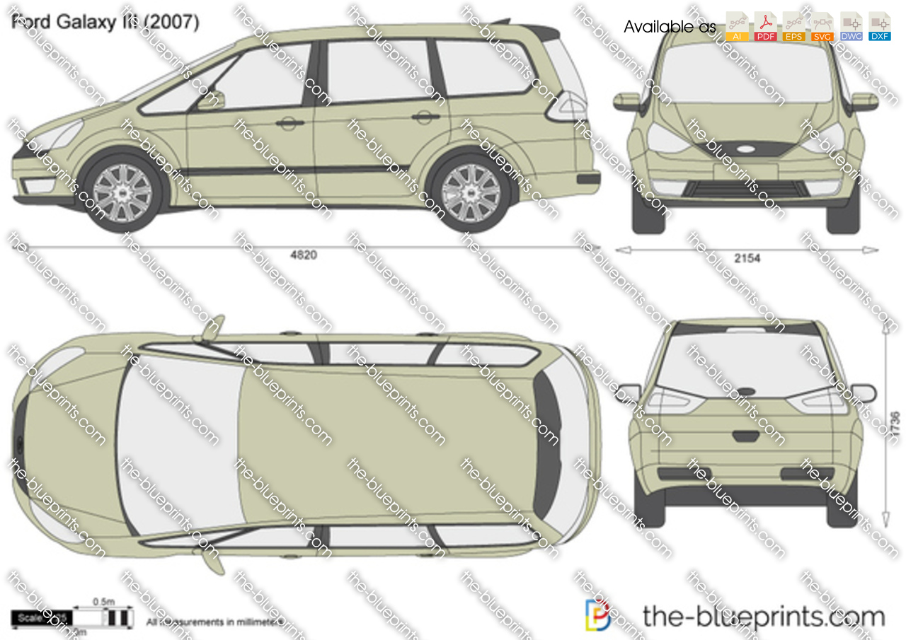 ford galaxy iii vector drawing. Black Bedroom Furniture Sets. Home Design Ideas