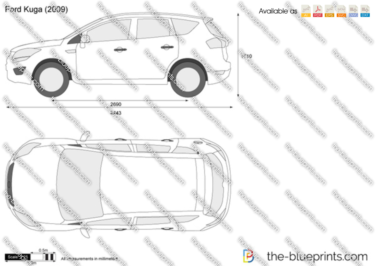 Ford kuga vector drawing for Where to get blueprints