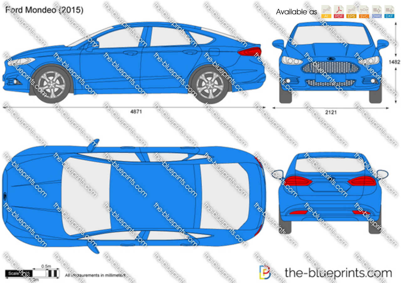 The Blueprints Com Vector Drawing Ford Mondeo