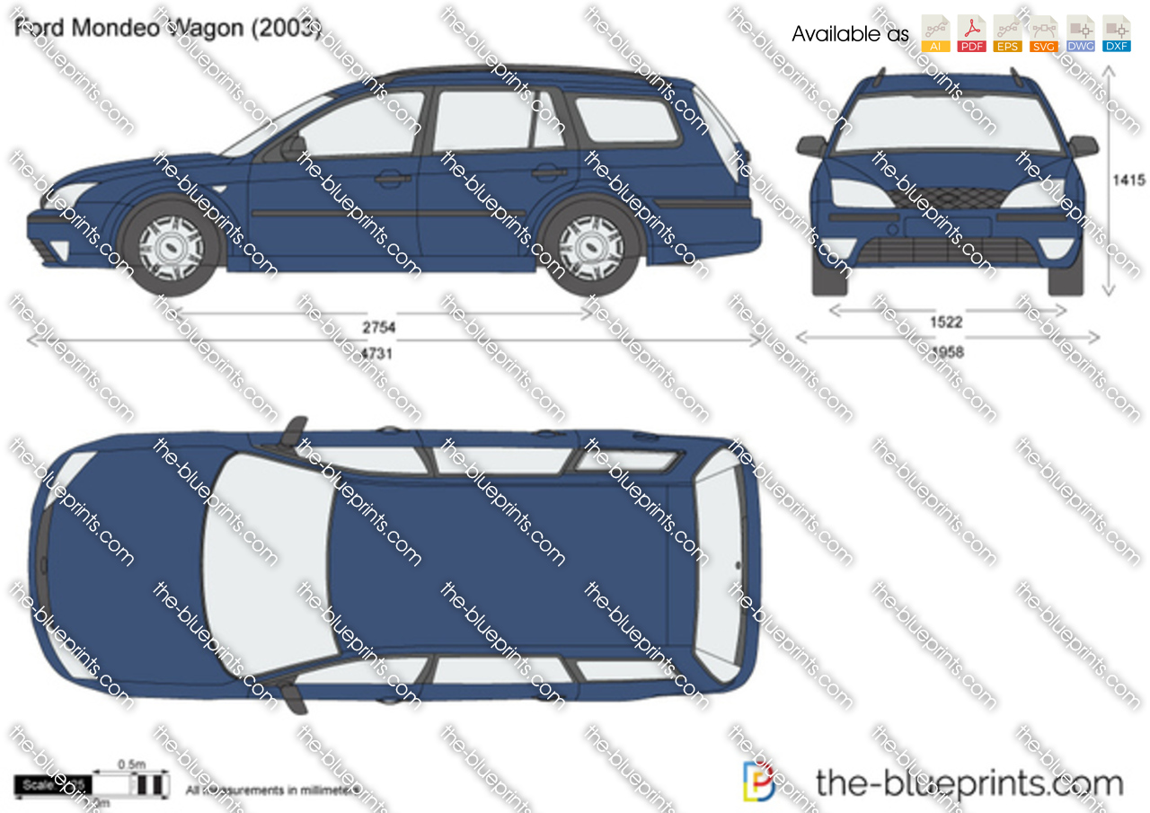 The vector drawing ford mondeo wagon for Ford motor credit application pdf