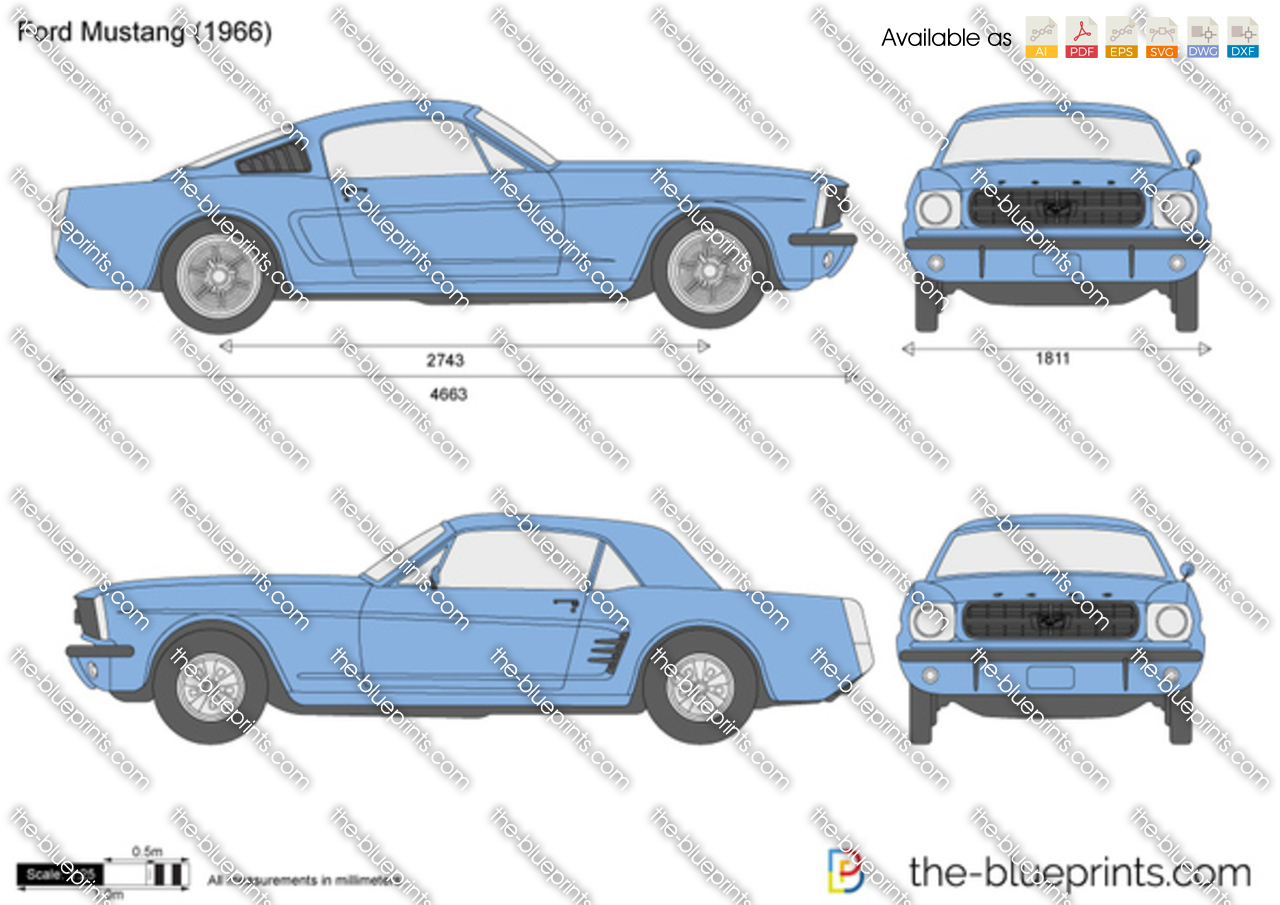 The Blueprints Com Vector Drawing Ford Mustang