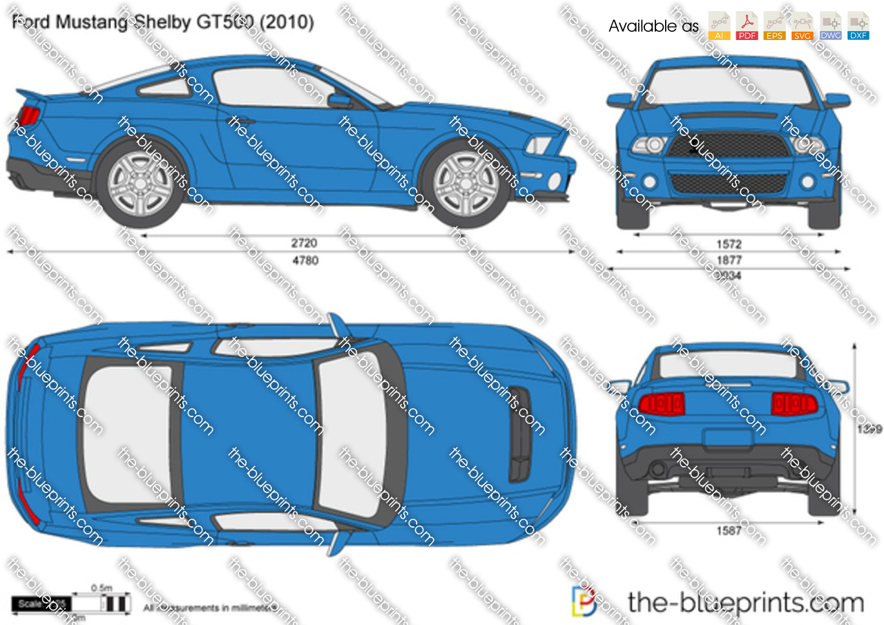 The-Blueprints.com - Vector Drawing - Ford Shelby GT500