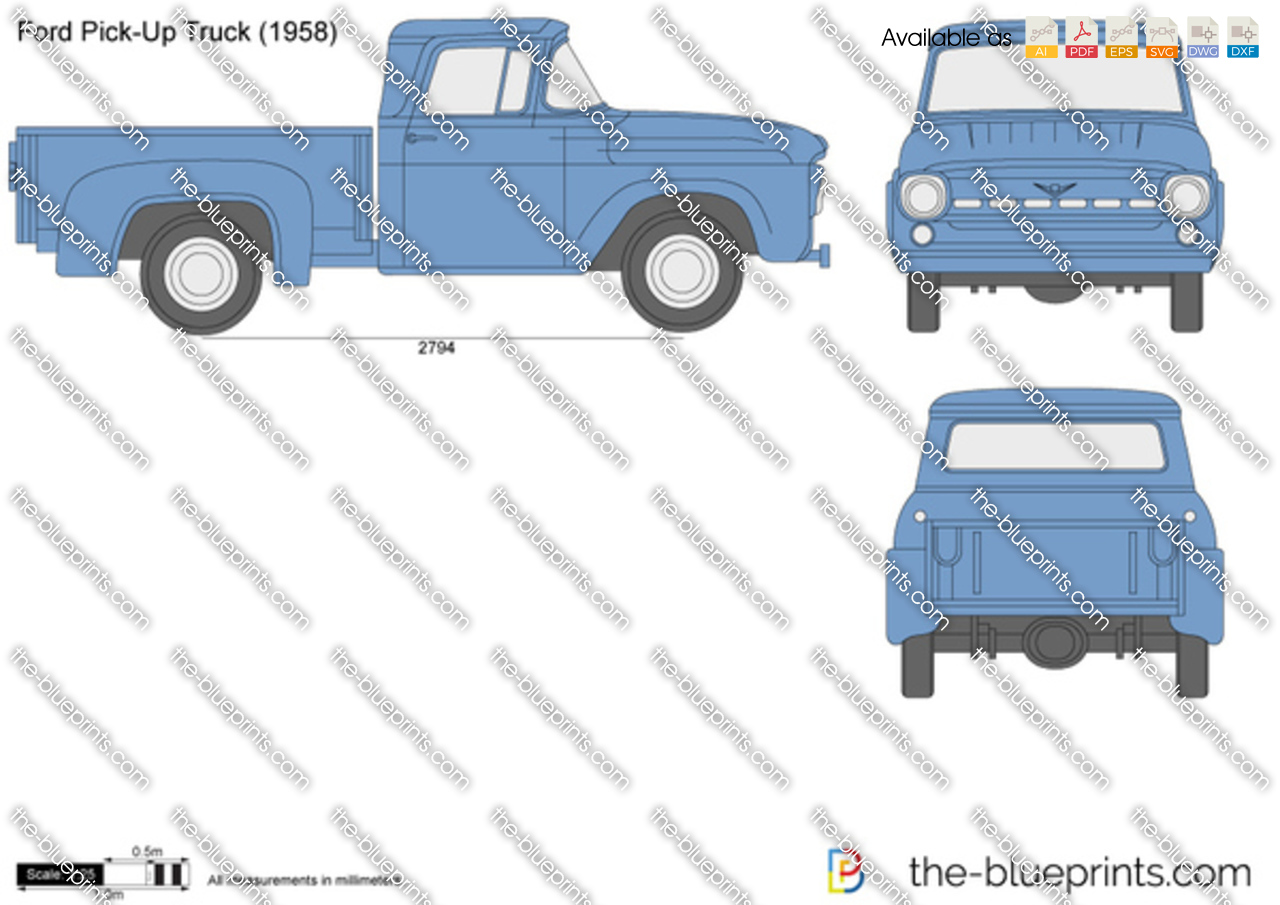 Pick up truck drawings