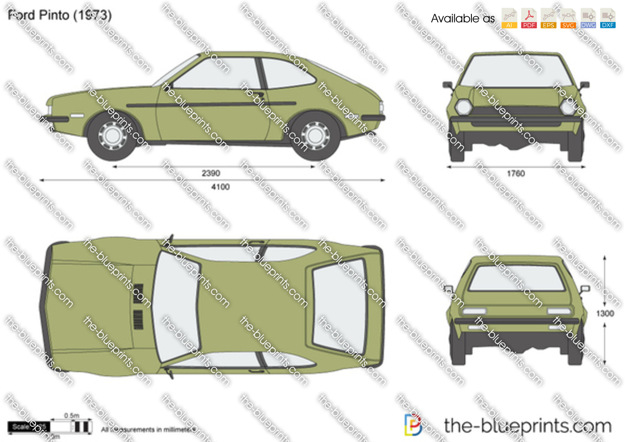 Ford Pinto vector drawing