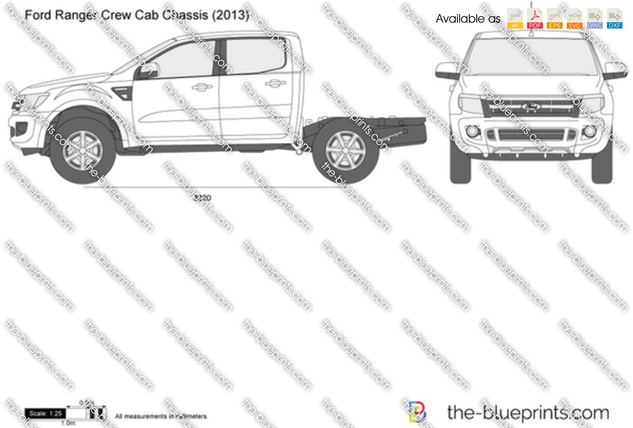 Ford Ranger Crew Cab Chassis 2014