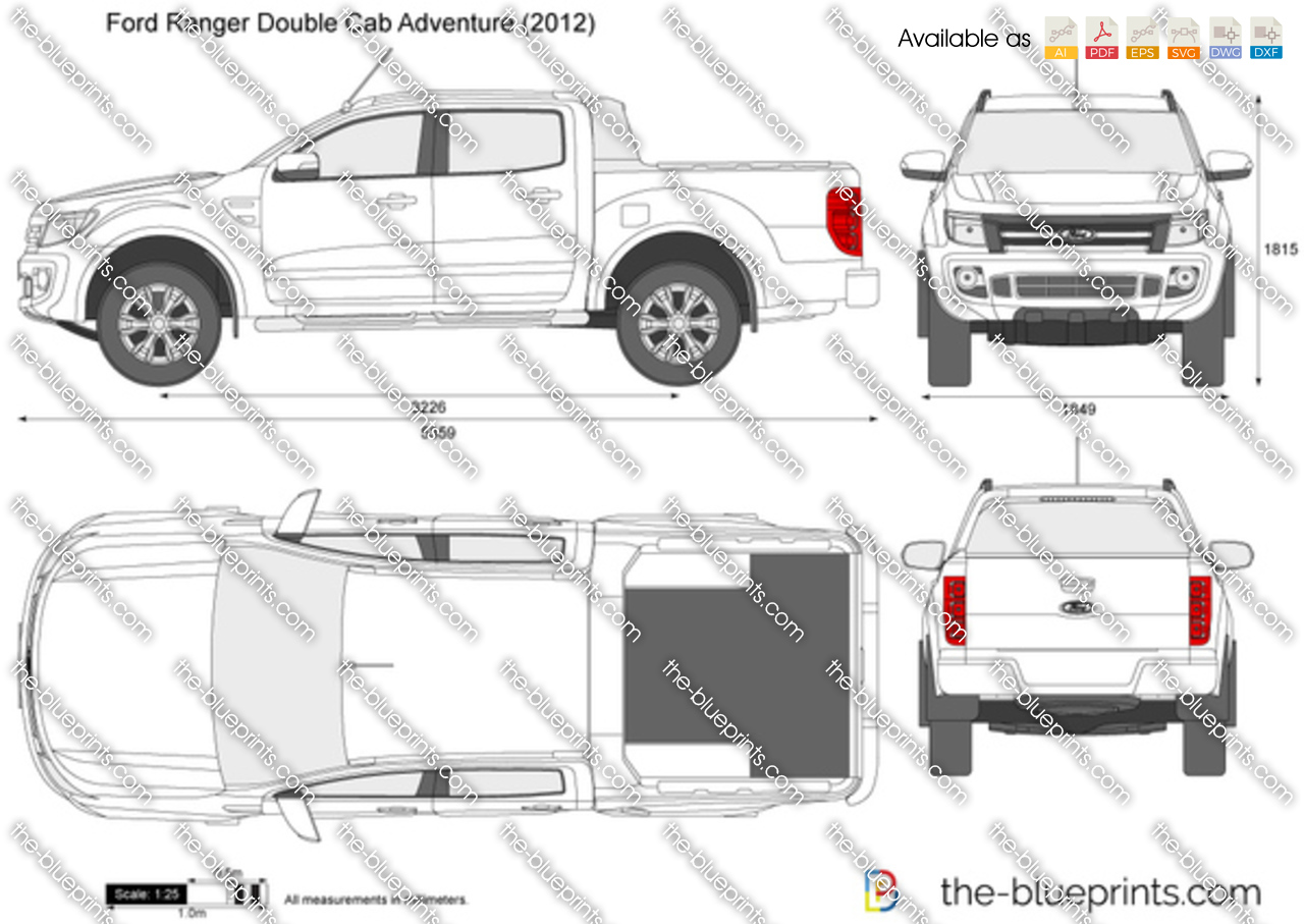 Line Art Xl 2008 : The blueprints vector drawing ford ranger double