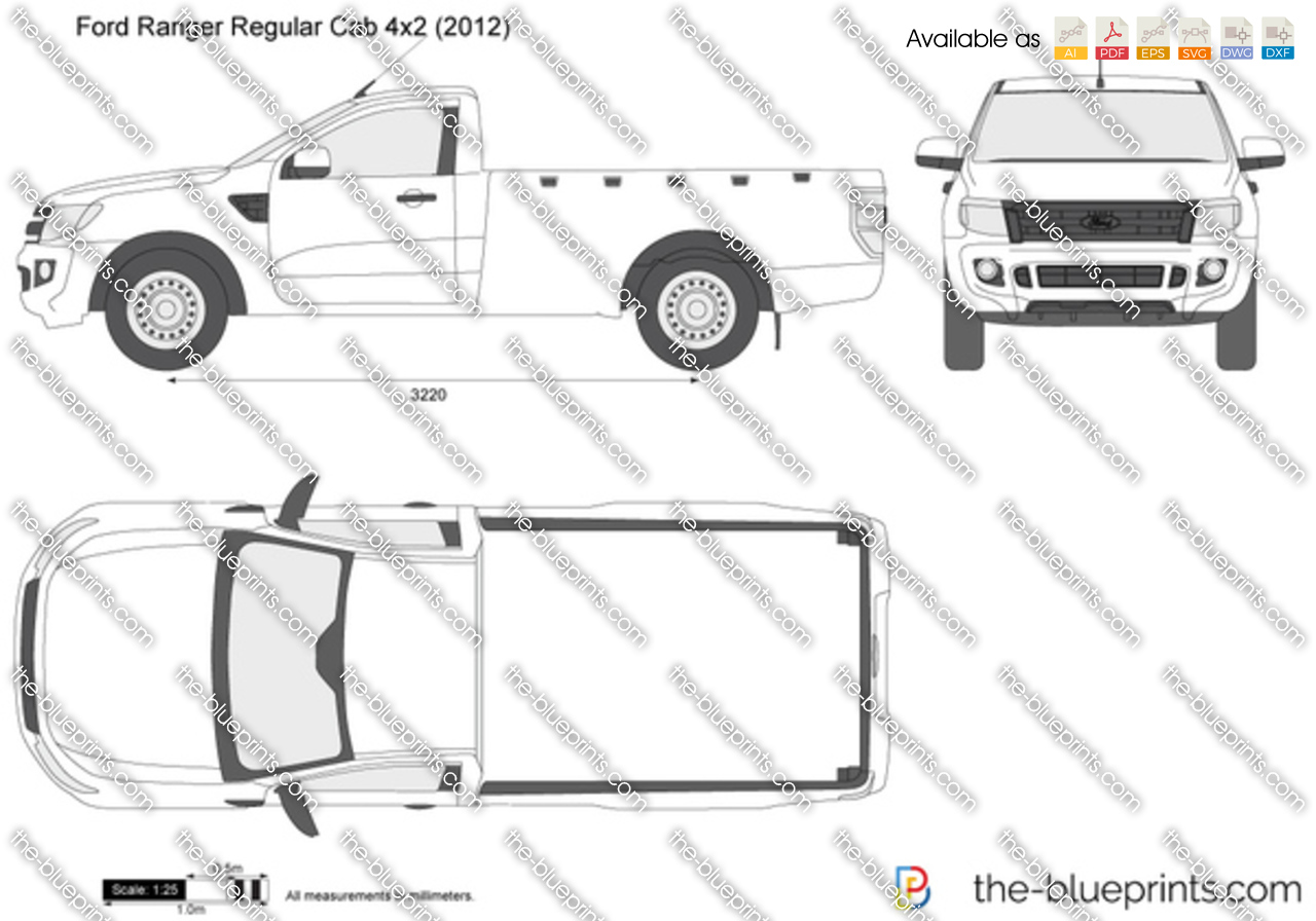 The vector drawing ford ranger regular for Ford motor credit application pdf