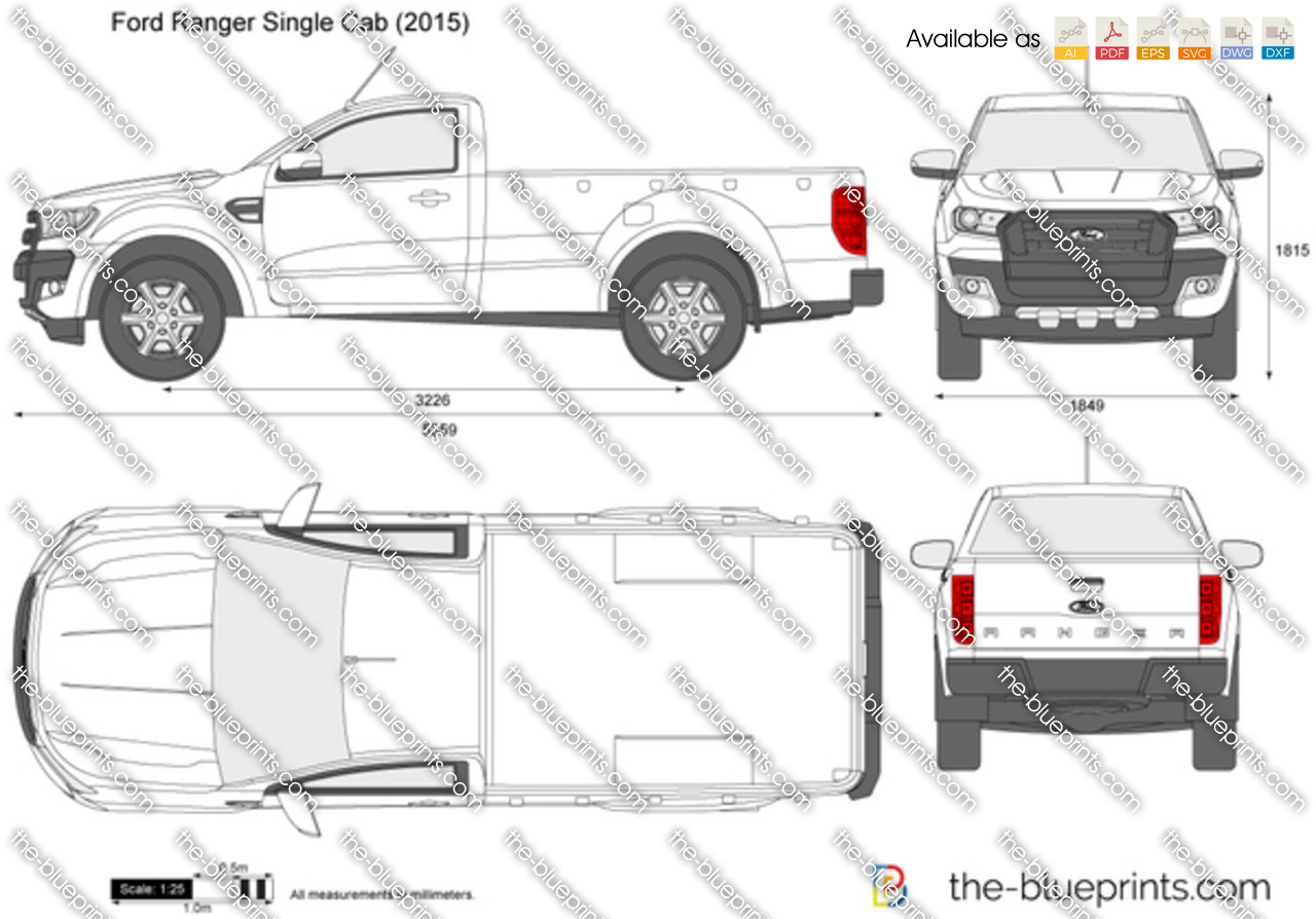The Blueprints Com Vector Drawing Ford Ranger Single Cab