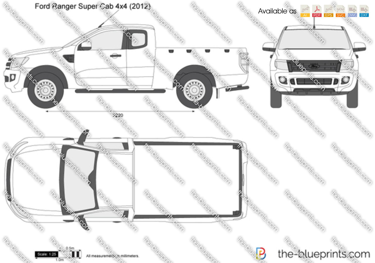 ford ranger supercab drawings