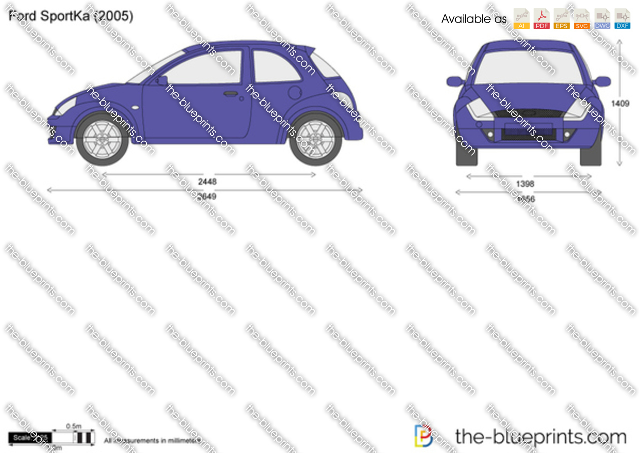 the vector drawing ford sportka. Black Bedroom Furniture Sets. Home Design Ideas