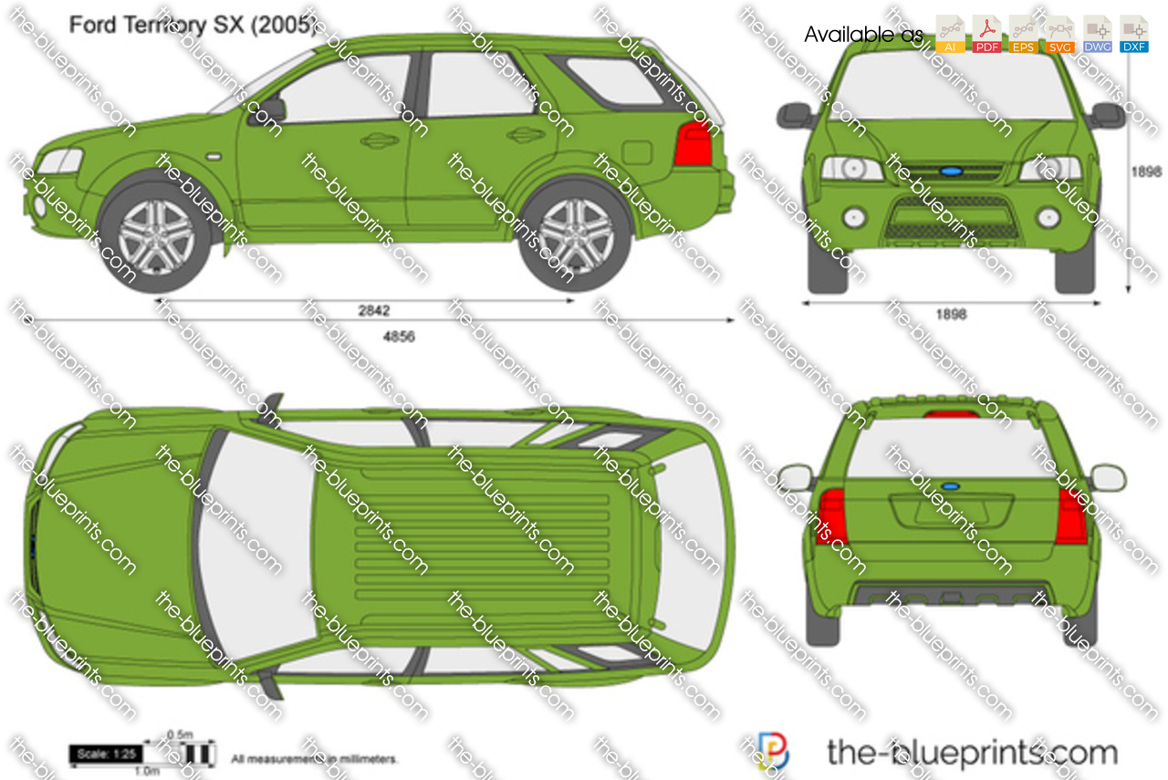 Ford Territory Sx Vector Drawing