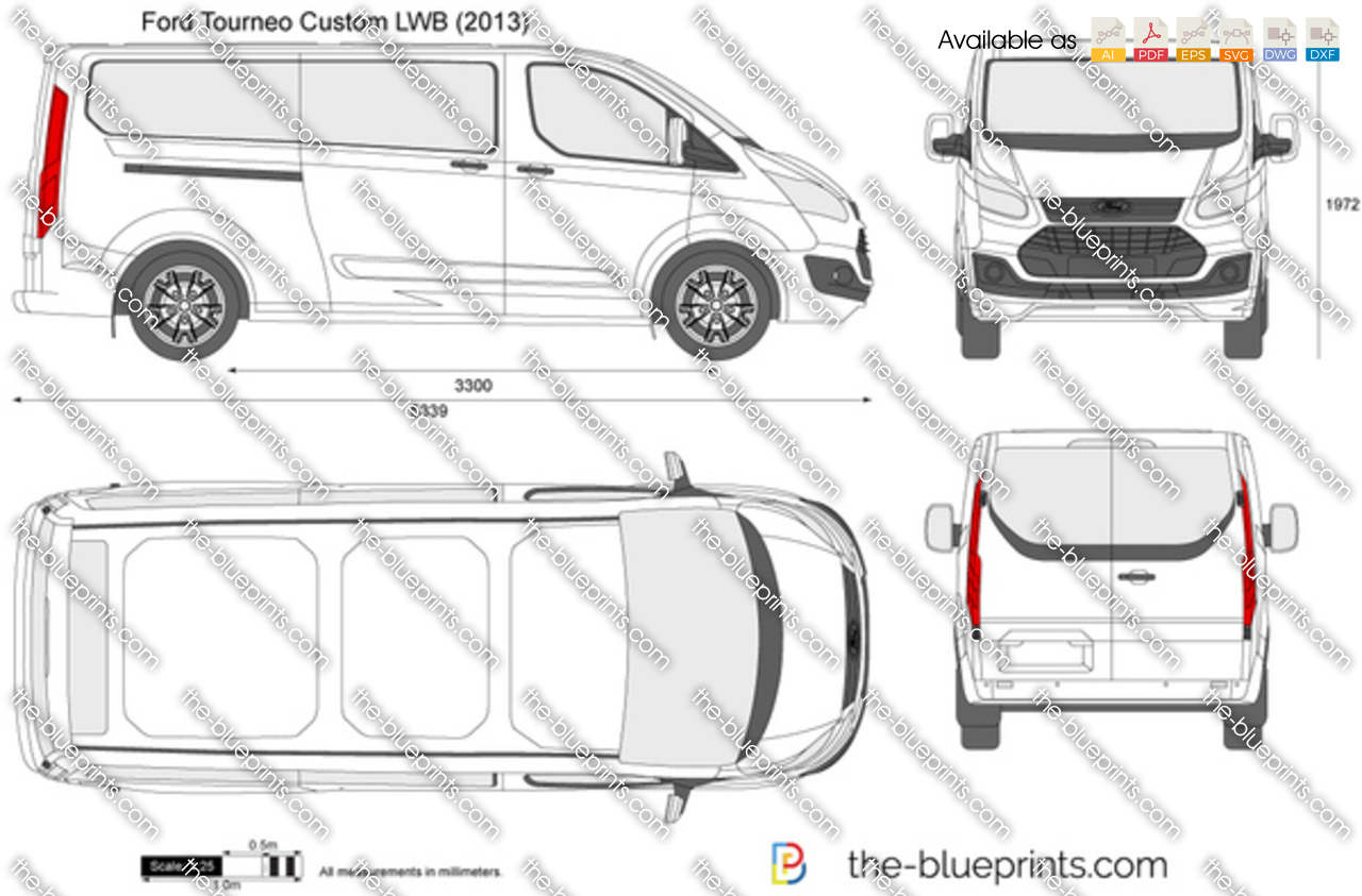 the vector drawing ford tourneo custom lwb. Black Bedroom Furniture Sets. Home Design Ideas