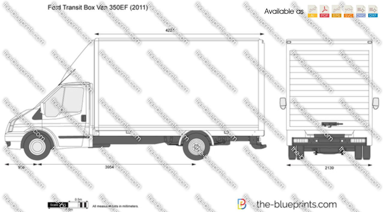 Vector Drawings / Ford / Ford Transit Box Van 350EF