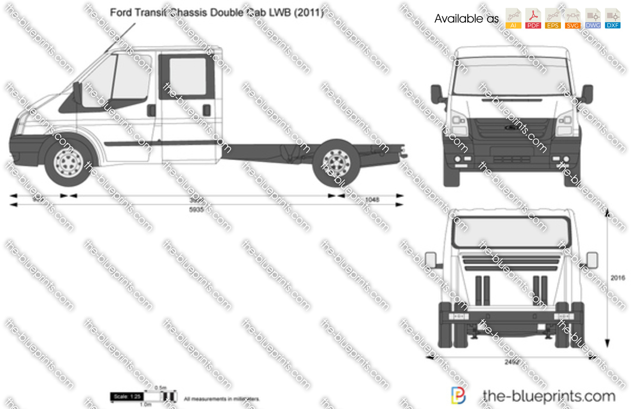 Ford Transit Chassis Double Cab LWB