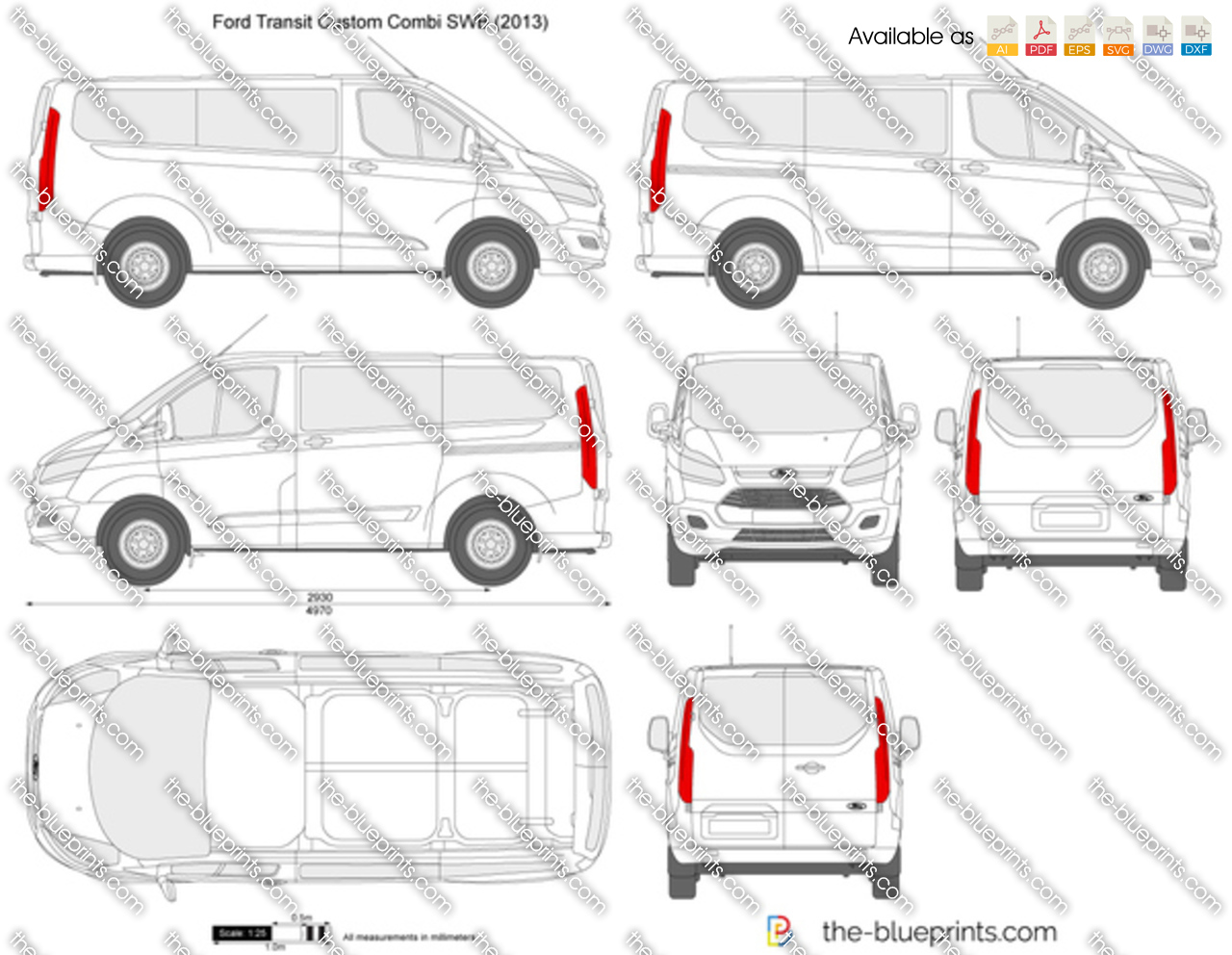 Ford Transit Custom Combi SWB 2017