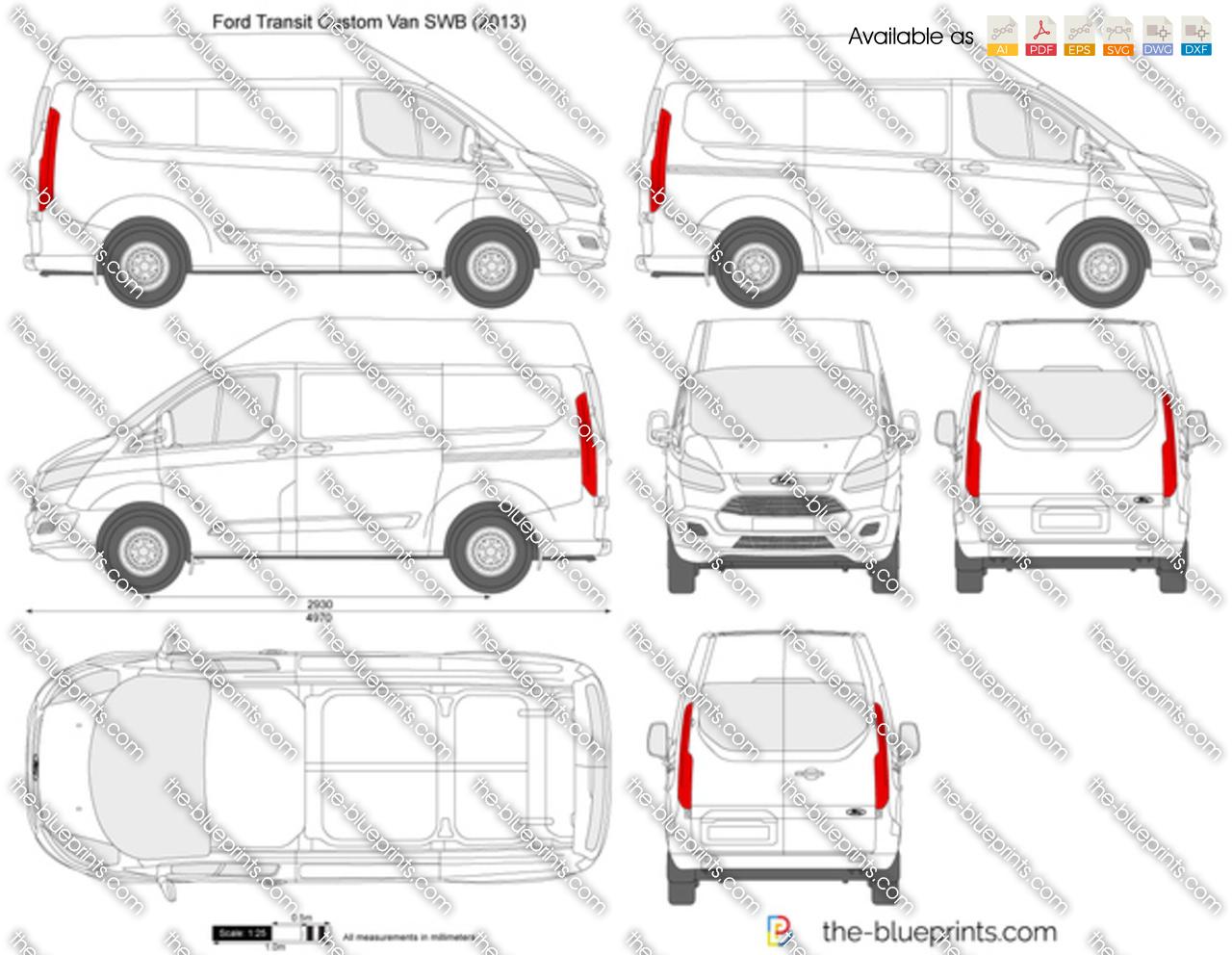 Ford Transit Custom SWB L1H2 2016