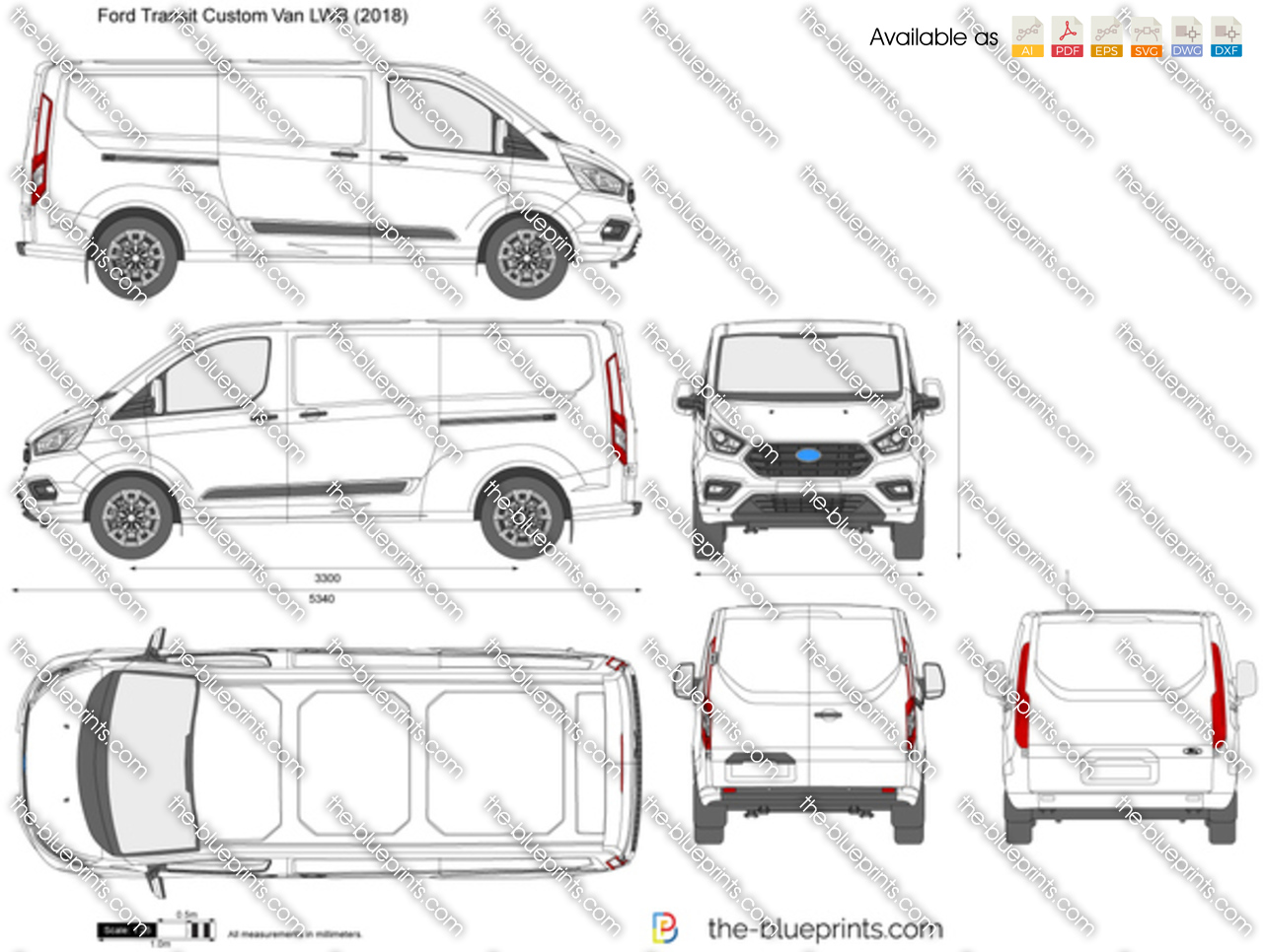 Ford Transit Custom Van L2H1