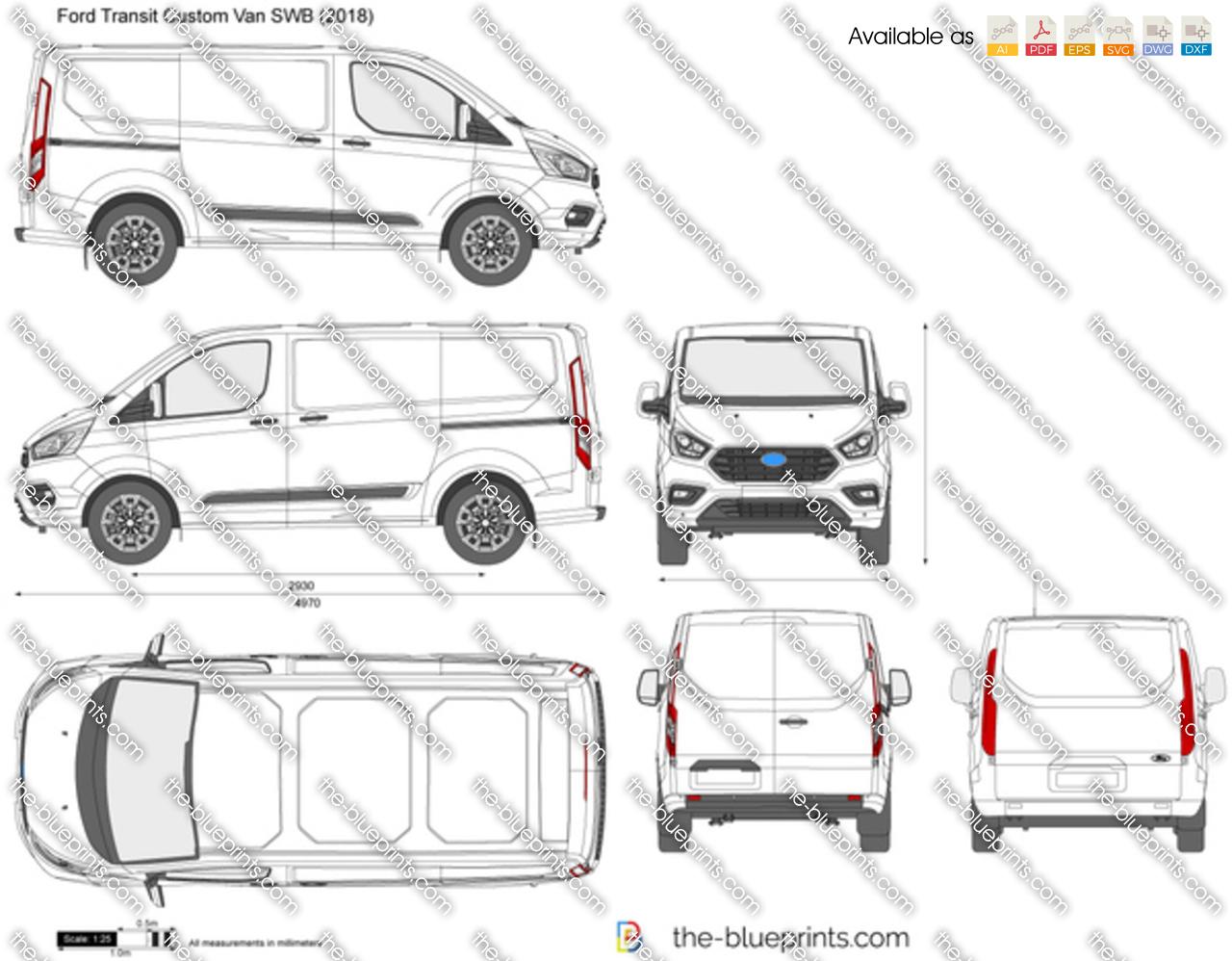 Ford Transit Custom Van SWB