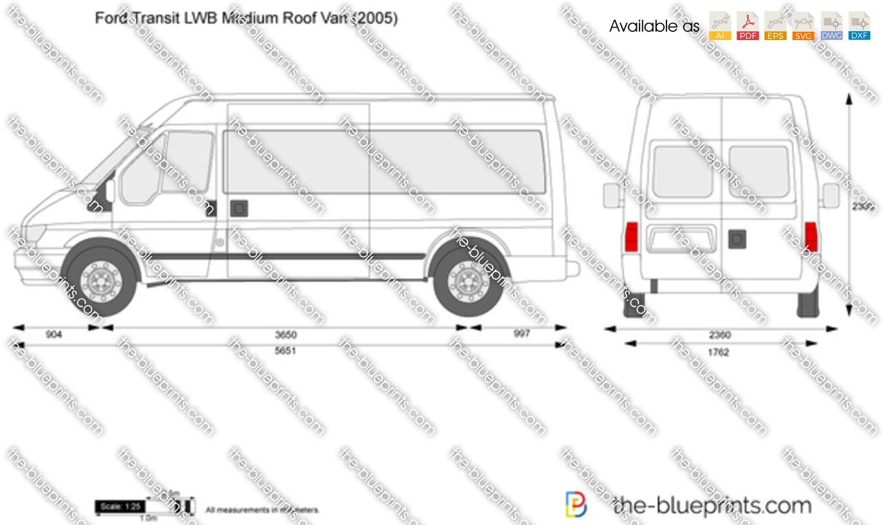 the vector drawing ford transit lwb medium roof van. Black Bedroom Furniture Sets. Home Design Ideas