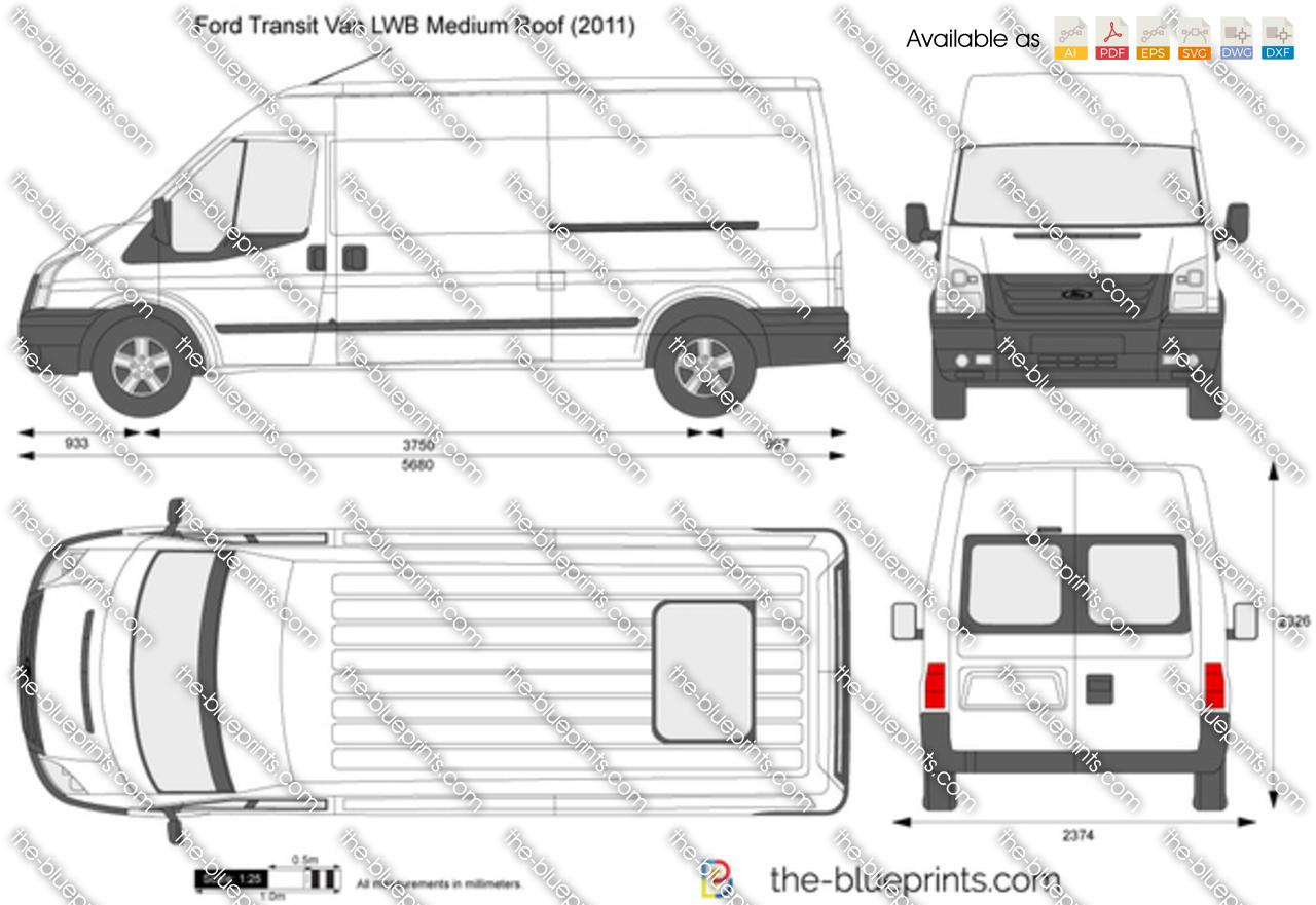 Технические характеристики Ford Transit Van. Габаритные ...