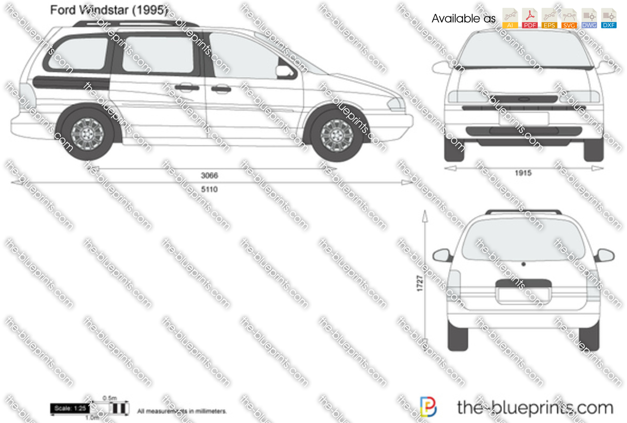 The Blueprints Com Vector Drawing Ford Windstar