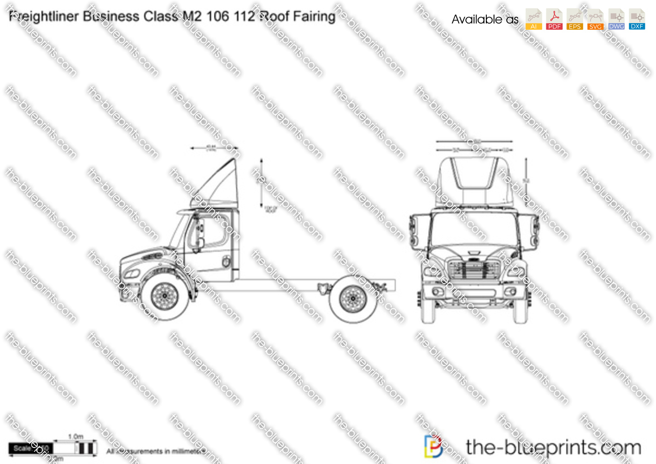 Freightliner Business Class M2 106 112 Roof Fairing