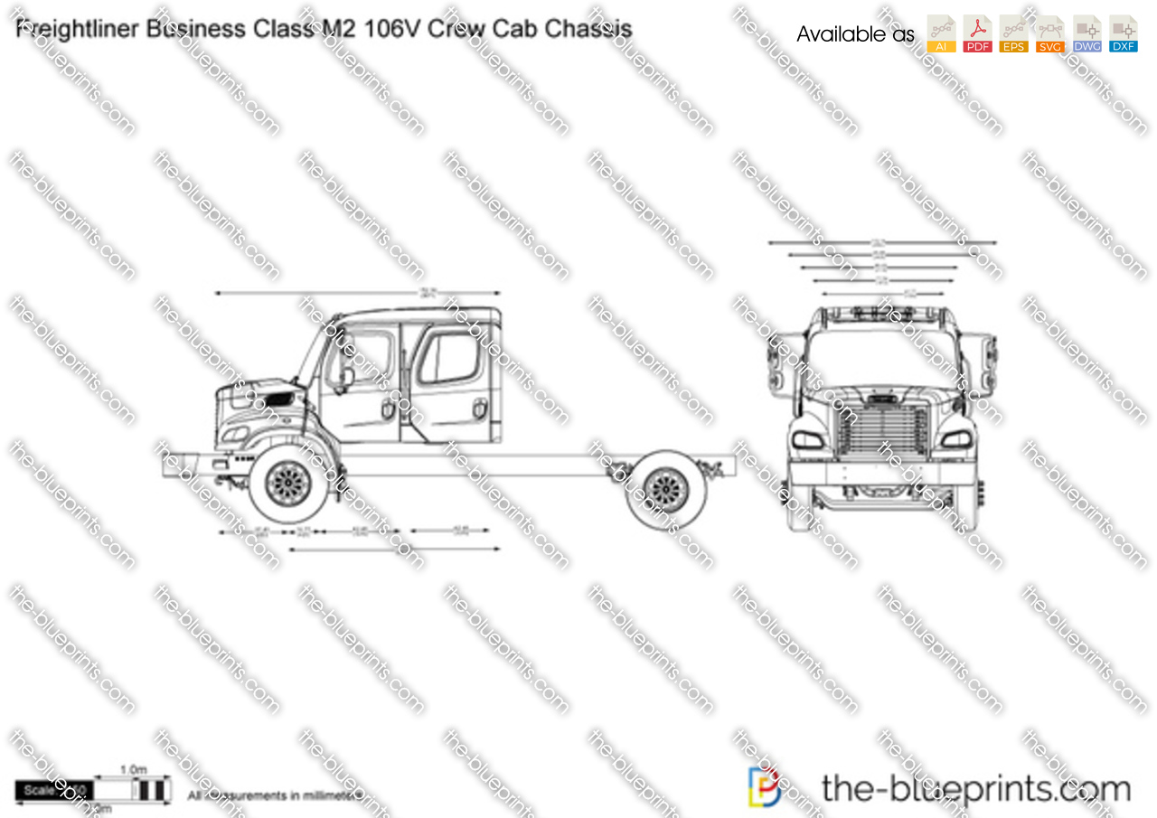 Freightliner business class m2 106v crew cab chassis on truck chassis diagram