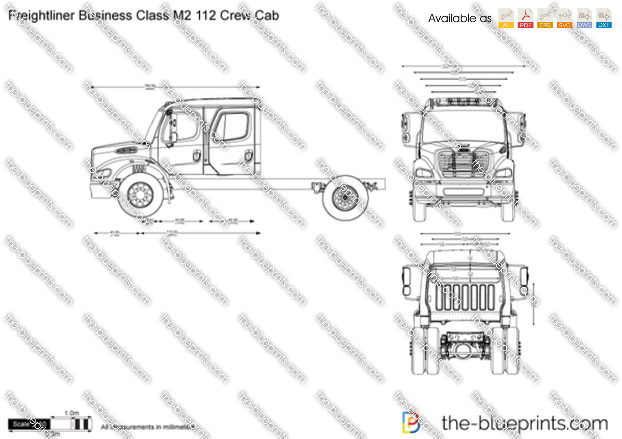 Freightliner Business Class M2 112 Crew Cab Vector Drawing Fuse Box
