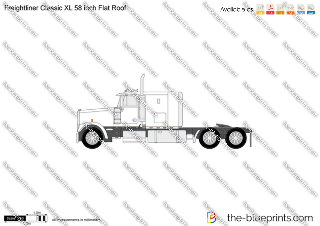Freightliner Clic XL 58 inch Flat Roof vector drawing on freightliner engine diagram, 1997 freightliner sensor, 1997 freightliner tractor, 1997 freightliner headlight switch, freightliner starter diagram, 1997 freightliner engine, freightliner air system diagram, freightliner relay diagram, peterbilt fuse panel diagram, 2000 freightliner fl70 fuse diagram, 1997 freightliner parts, 1997 freightliner chassis, 2001 freightliner brake diagram, 1997 freightliner brake system, freightliner parts diagram,