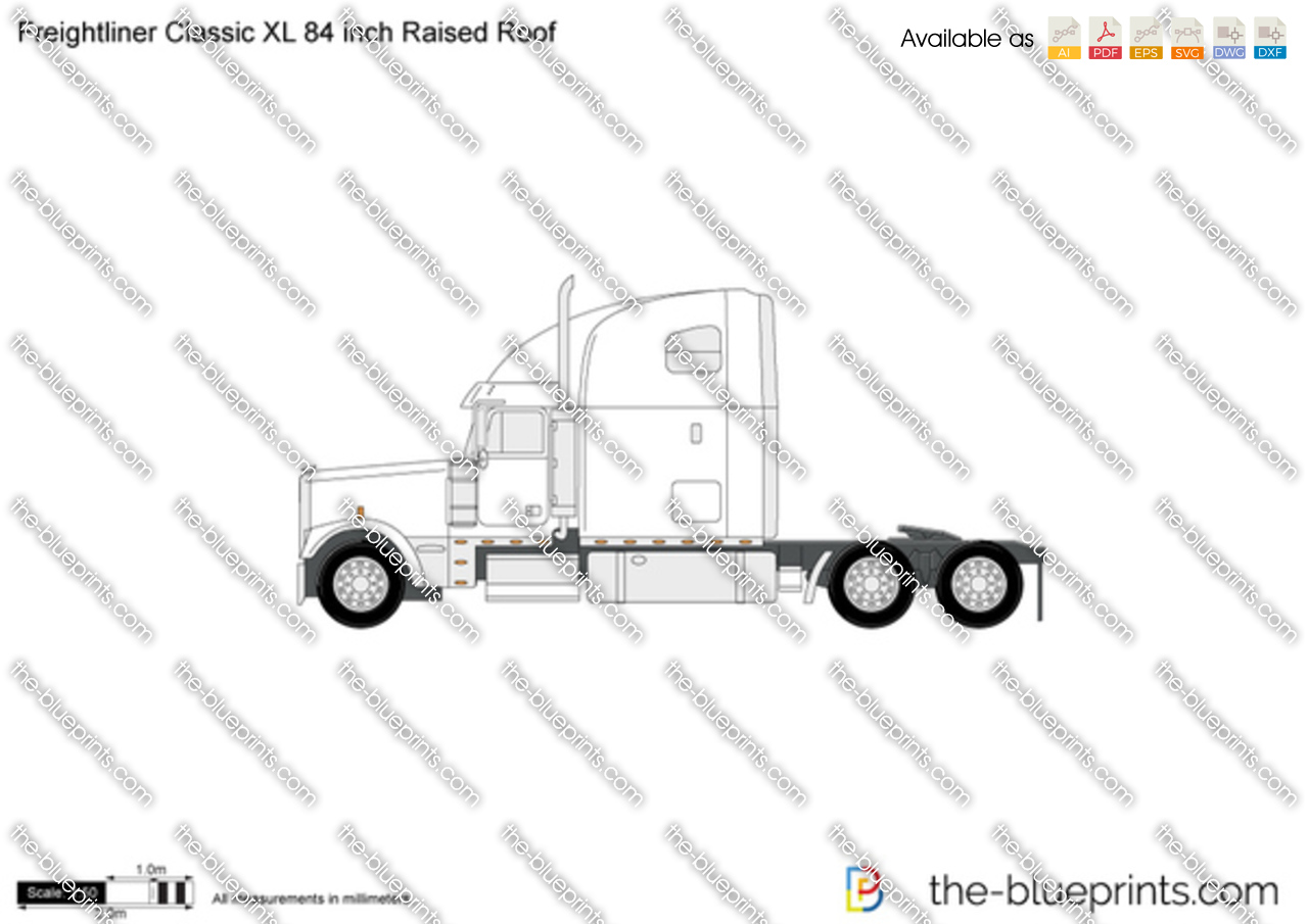Freightliner Classic XL 84 inch Raised Roof