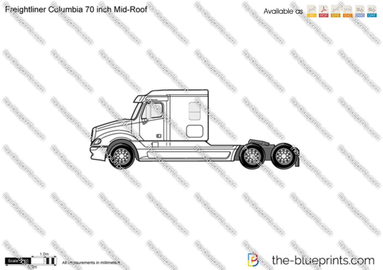 Freightliner Columbia 70 inch Mid-Roof