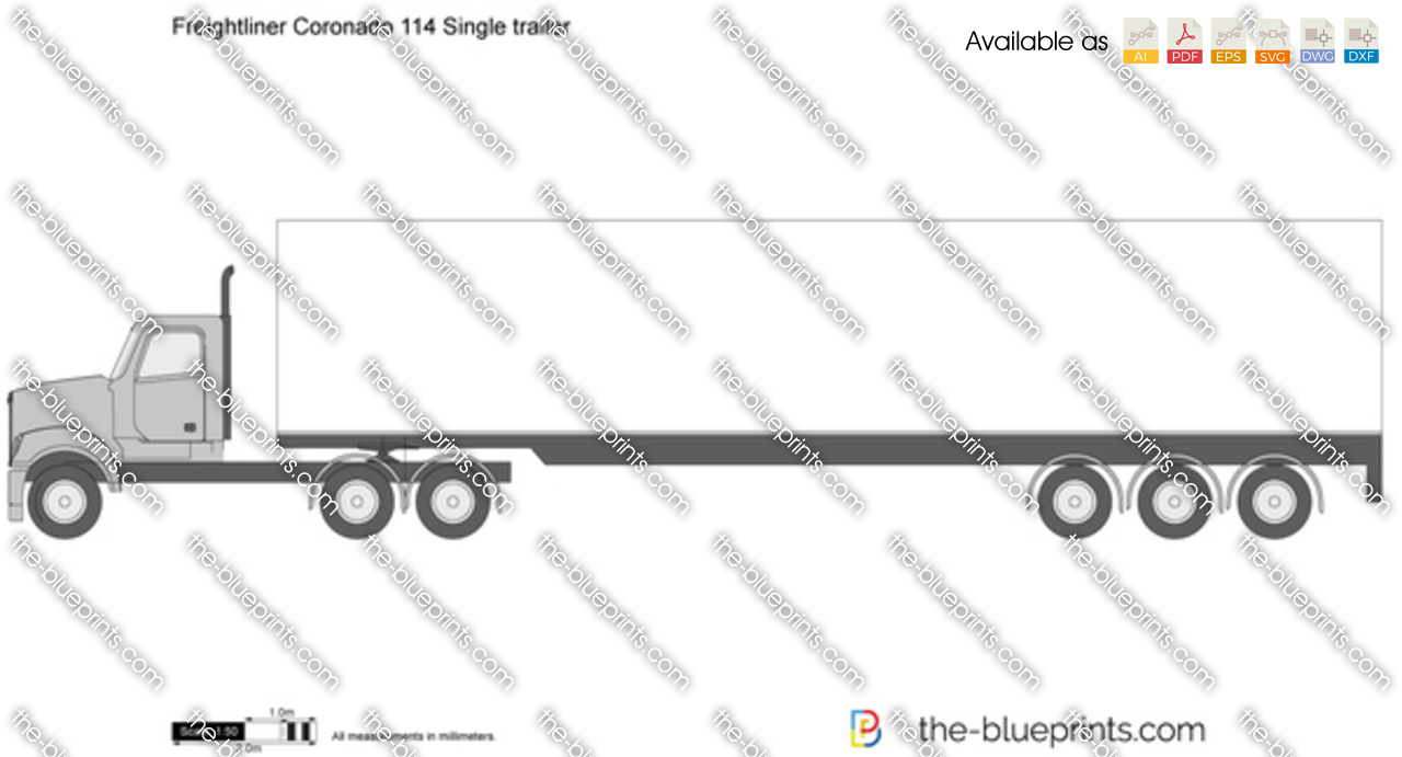 Freightliner Coronado 114 Single trailer