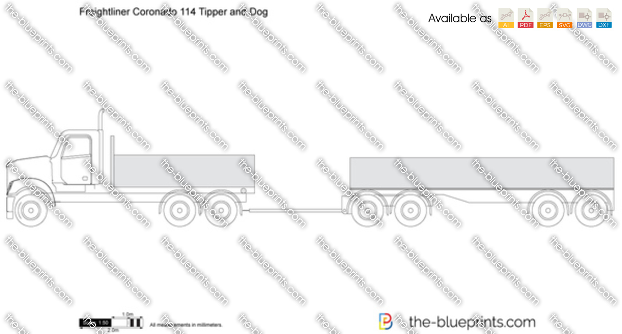 Freightliner Coronado 114 Tipper and Dog