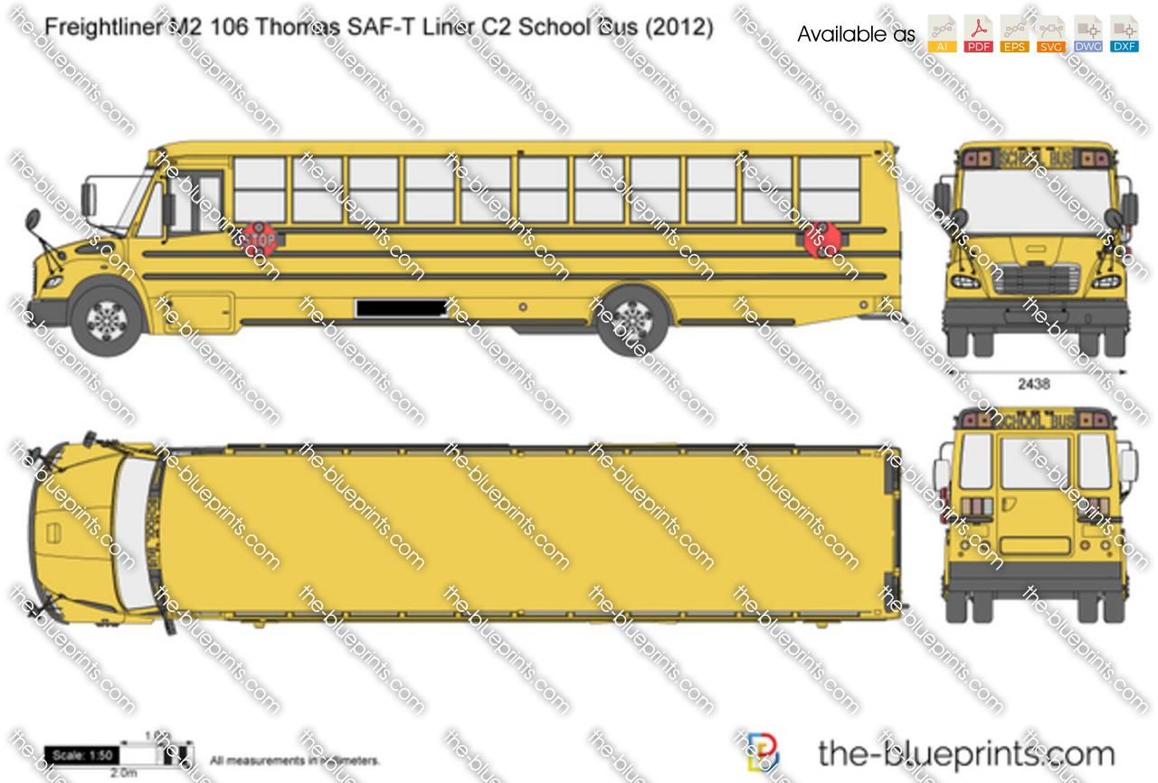 Freightliner M2 106 Thomas SAF-T Liner C2 School Bus 2015