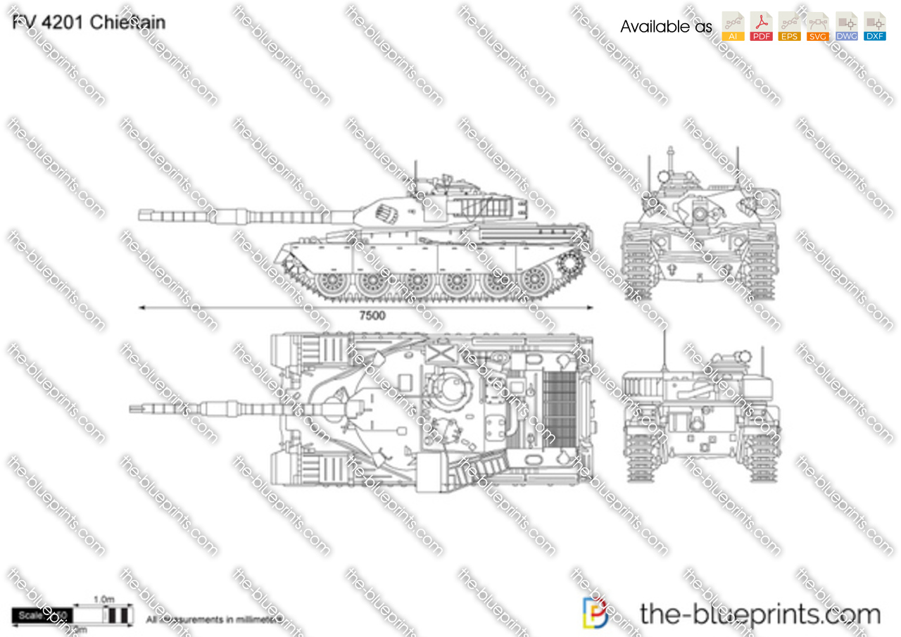 The Vector Drawing Fv 4201 Chieftain