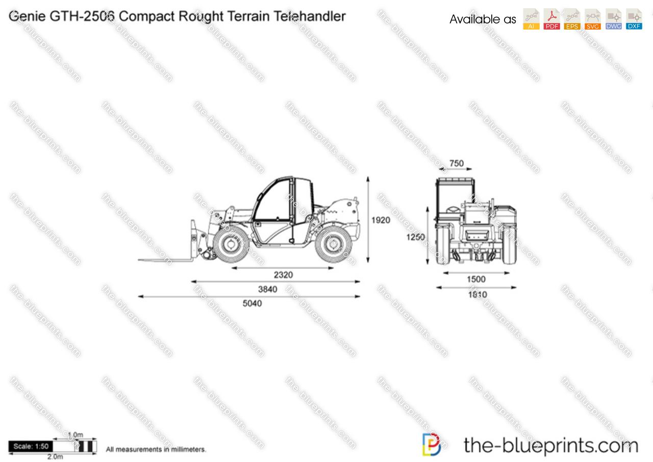 Genie GTH-2506 Compact Rought Terrain Telehandler