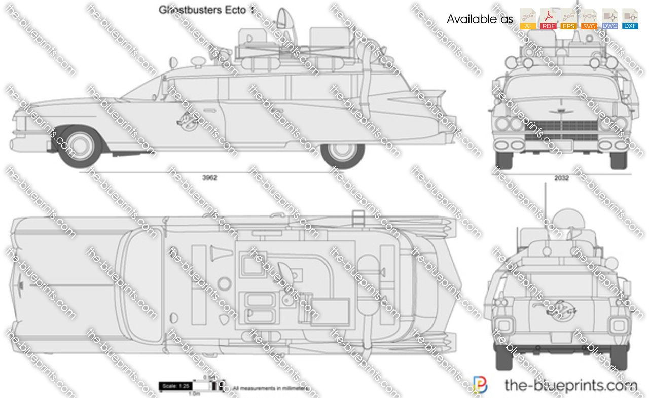 The Vector Drawing Ghostbusters Ecto 1