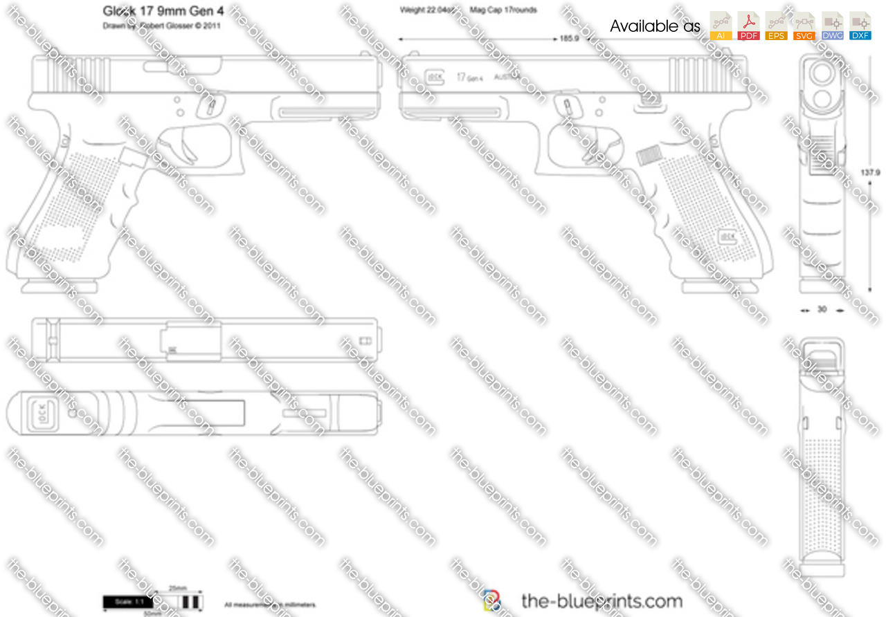glock blueprints pictures to pin on pinterest