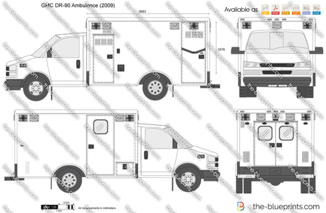 The Blueprints Com Vector Drawing Gmc Dr 90 Ambulance