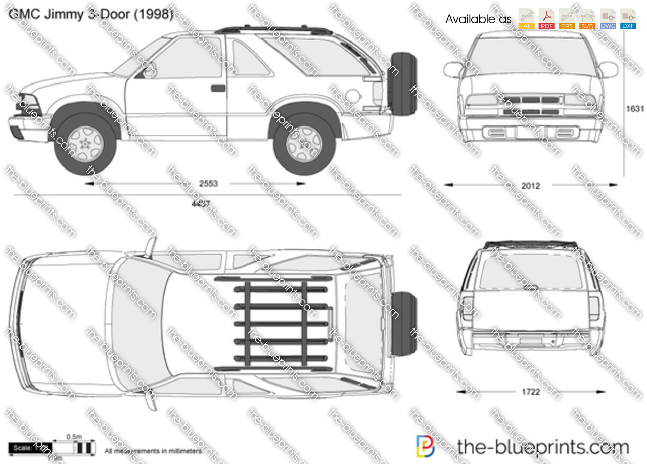 Nissan Leaf For Sale >> GMC Jimmy 3-Door vector drawing