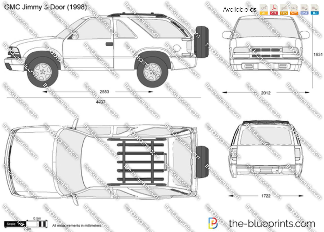 gmc jimmy 3 door vector drawing. Black Bedroom Furniture Sets. Home Design Ideas